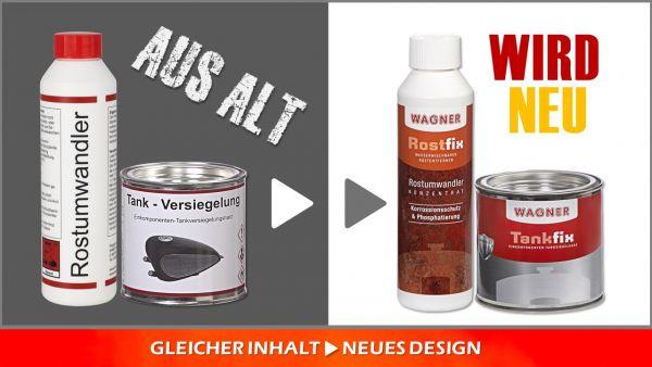 Entdecken Sie das neue Design unserer bewährten Produkte zur Tankversiegelung!
